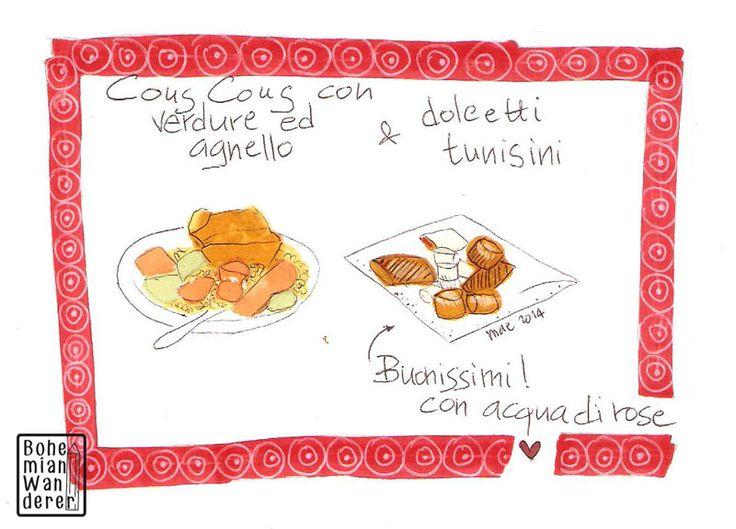 Suq - Festival delle Culture di Genova: cucina tunisina #tunisia #cooking #cucina #food #cibo #drawing #disegno #illustrazione #illustration #suq #genova #letraset #promarkers