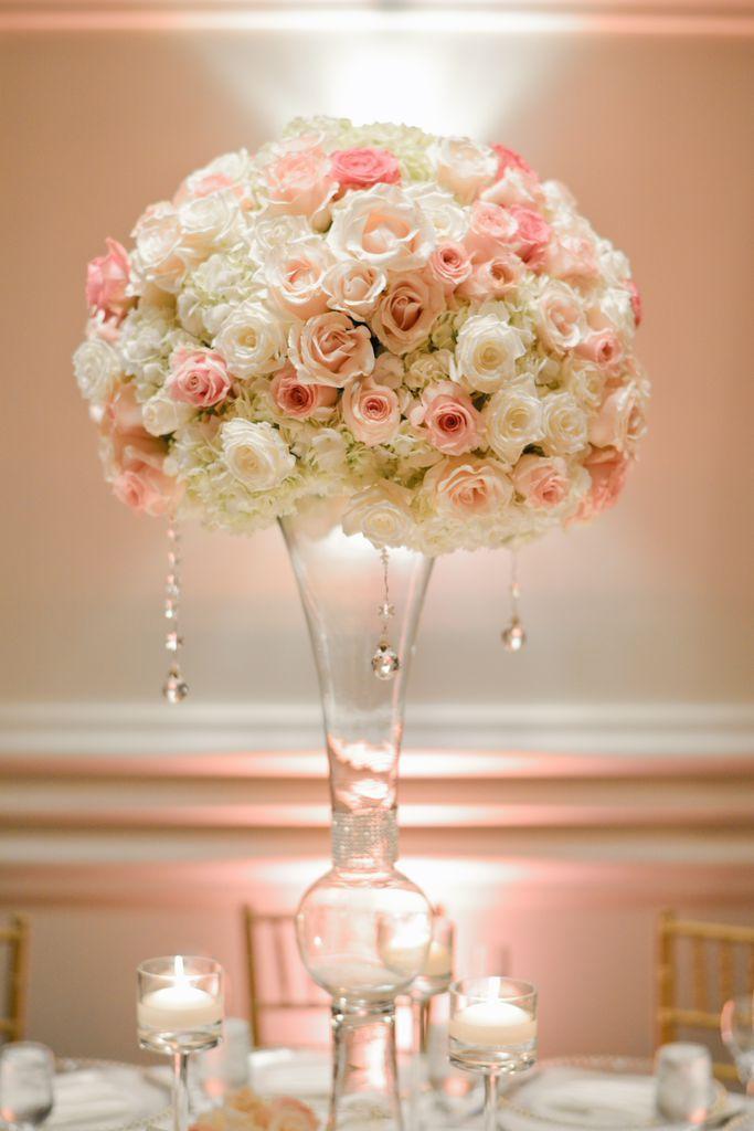 Best coral flower centerpieces ideas on pinterest