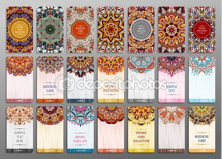 Baixar - Conjunto de vetor vintage cartão de visita. Padrão de mandala floral e ornamentos. Oriental desenho Layout. Islã, motivos de Otomano Indiana, árabe. Primeira página e última página — Ilustração de Stock #107787850