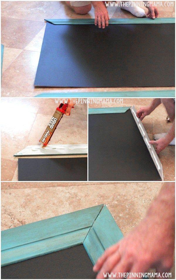 Easy DIY Oversized Outdoor Chalkboard. Outdoor ChalkboardLiquid NailsEasy  ...