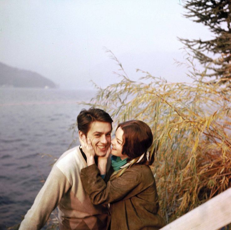alain delon with romy.