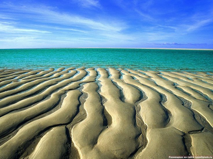 Sand Ripples at Low Tide, Broome's Cable Beach, Western Australia