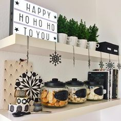 """""""happy HO HO HO ... all cookie jars are filled up for xmas and i looooove my little lightbox! #cornersofmyhome"""""""