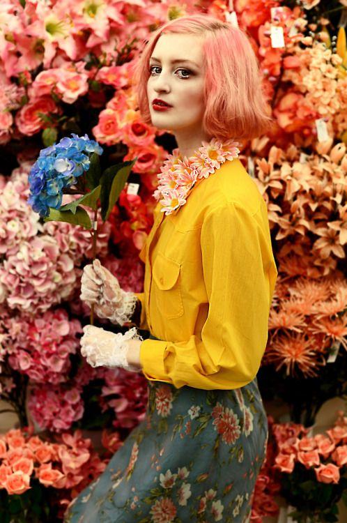 Pink flowers | Pink hair