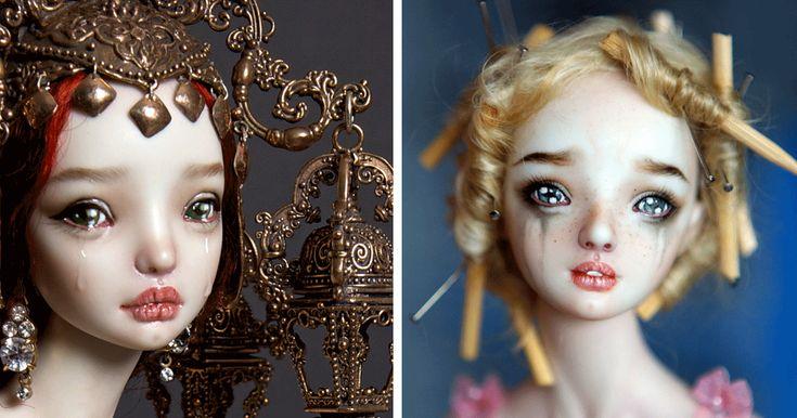 Ρωσίδα καλλιτέχνης φτιάχνει ρεαλιστικές πορσελάνινες κούκλες που θα σας κάνουν να ανατριχιάσετε.   Τι λες τώρα;