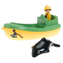 """Playmobil 1.2.3.Fishing Boat with Whale - Playmobil - Toys """"R"""" Us"""