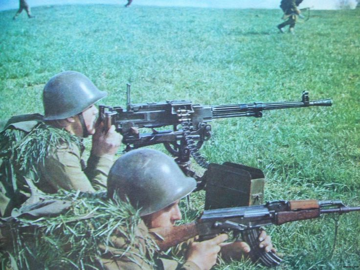Soldiers of the Albanian People`s Army on training.