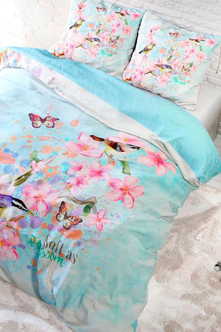 Vendita Home Living / 28103 / Biancheria da letto / Parure copripiumone / Parure Copripiumone Blossom Celeste e Rosa