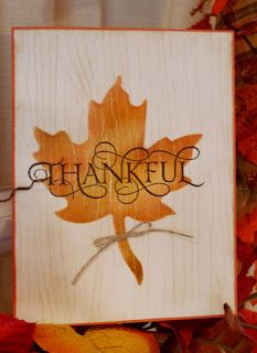 Stampin' Up! Six Sayings Thankful sentiment handmade Autumn Thanksgiving card by…