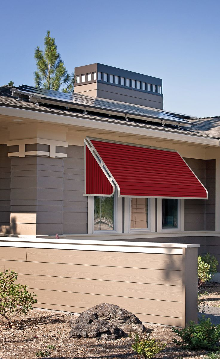 Shown Here Is A Beautiful Series 3500 Aluminum Window Awning In Brick Red Color By NuImage