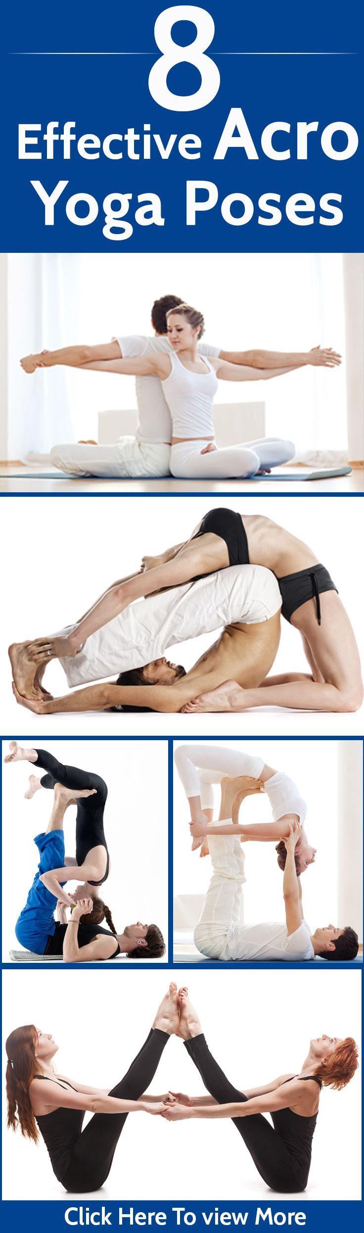 8 Effective Acro Yoga Poses For A Healthy Body- I wish I had someone who would do yoga with me