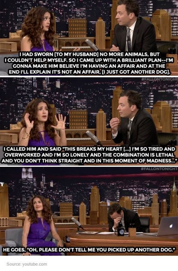 Salma Hayek trolling her husband