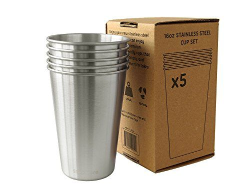 I just read a great review on this 16oz Stainless Steel Drinking Cups – Pack of 5 – Eco Friendly Metal Pint Glass Tumblers for the Family and Kids – Great for Kitchen, Outdoors, Grilling, Traveling, and Camping. You can get all the details here http://bridgerguide.com/16oz-stainless-steel-drinking-cups-pack-of-5-eco-friendly-metal-pint-glass-tumblers-for-the-family-and-kids-great-for-kitchen-outdoors-grilling-traveling-and-camping/. Please repin this. :)