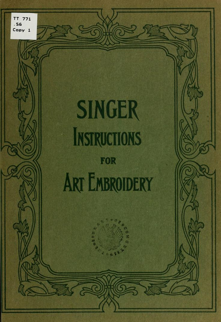 Singer Instructions For Art Embroidery No Need To Buy This Great Vintage  Book It's