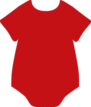 Red Onesie | Clip Art-Baby | Baby clip art, Baby shower ...