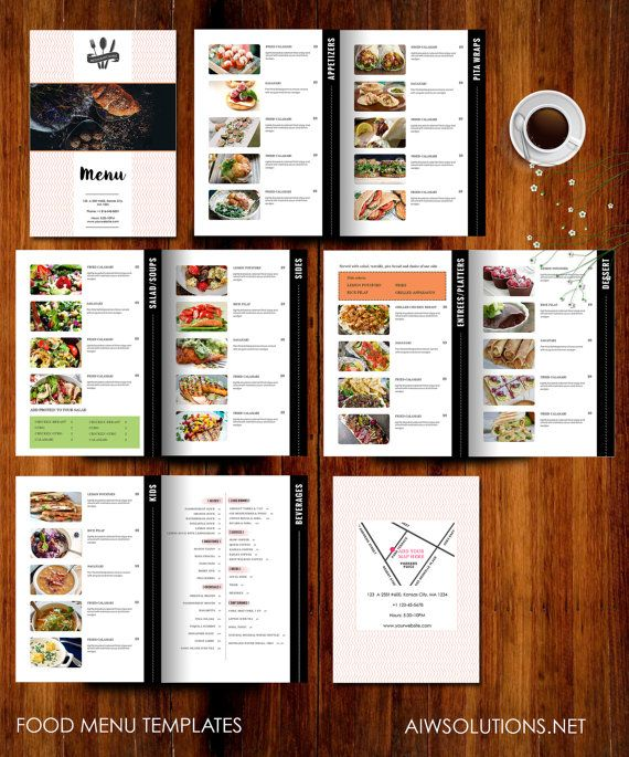 food menu templates printable restaurant menu by aiwsolutions the