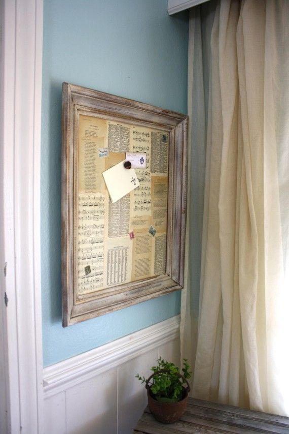 Antique French Paper Magnet Board by funkiefinds on Etsy MAGNET BOARD!!!!!!!  Love it!