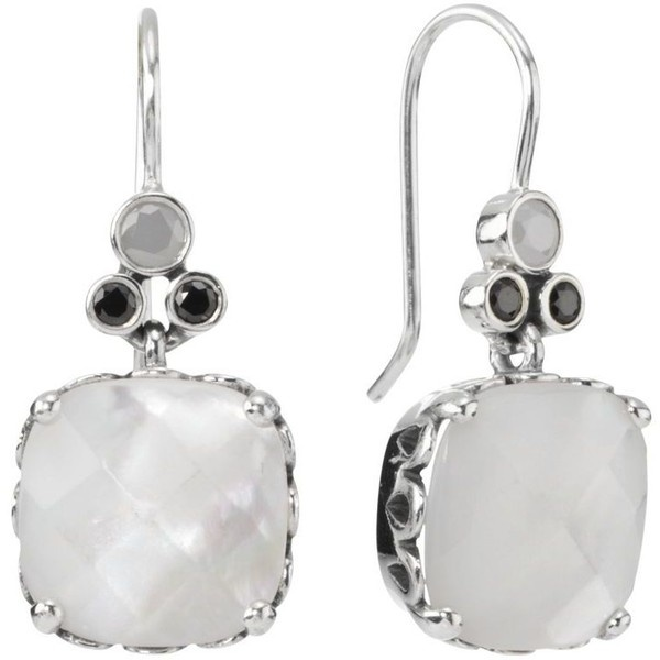 Pandora Mother Of Pearl And Cubic Zirconia Earrings ($120