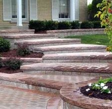 How to repair brick steps