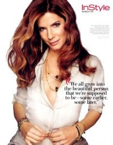 What a beautiful quote from Sandra Bullock. We need things like THIS out there.