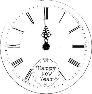 new year's eve party clock faces decoration ideas