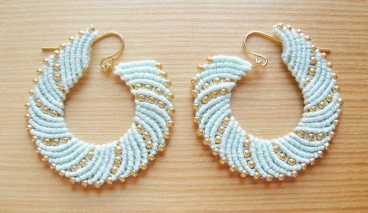 Macrame swirl earrings tutorial
