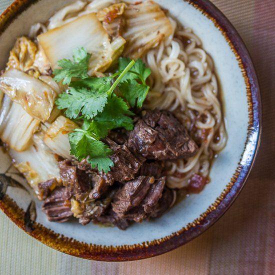Taiwanese pork chop noodle soup recipe