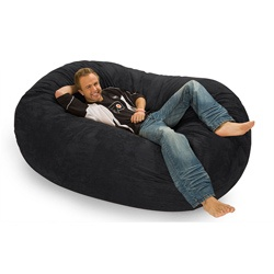 @Overstock - This lovely black microfiber and foam bean bag chair from Slacker Sack features a durafoam inside for spectacular comfort. The cover is removable and machine washable which makes for an easy to maintain chair fit for any home.http://www.overstock.com/Home-Garden/Slacker-Sack-Black-Microfiber-and-Foam-Bean-Bag-6-oval/6677440/product.html?CID=214117 $282.99: Foam Beans, Bags Sofas, Sacks Colossa, Bags Lounger, Beans Bags Chairs, Bean Bags, Mr. Beans, Bags Ideas, Relaxing Sacks