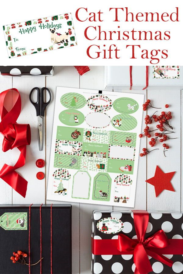Cat Christmas Gift Tag Stickers, 76 Count in 2018 | Christmas Gift ...