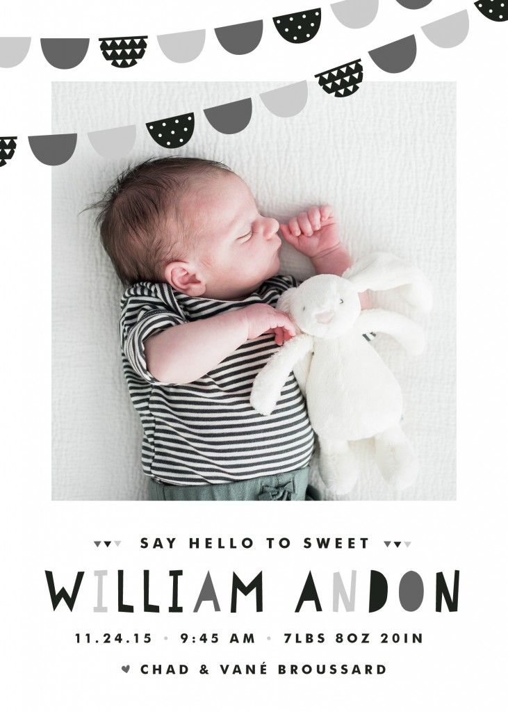 minted birth announcement