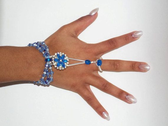Happi Hands beach wedding bracelet swarovski jewelry by HappiFeet