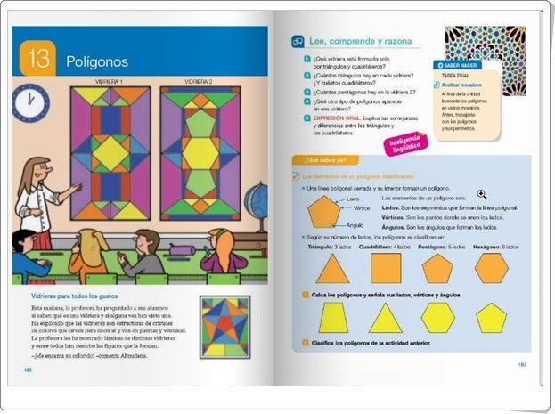 """Unidad 13 de Matemáticas de 4º de Primaria: """"Polígonos"""""""