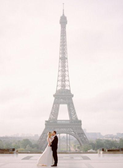 Chic Parisian elopement shoot: http://www.stylemepretty.com/destination-weddings/2014/07/22/chic-parisian-elopement-shoot/   Photography: http://www.rebeccayaleportraits.com/