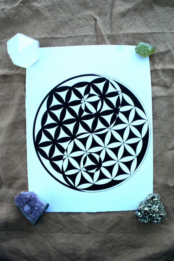 Flower of Life-Yin Yang  Sacred Geometry  Screen by TempleThreads