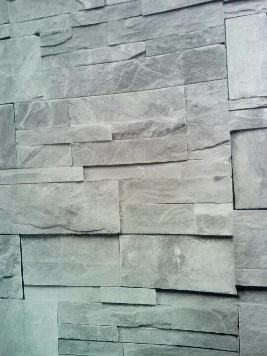 Behang, stenen, net echt