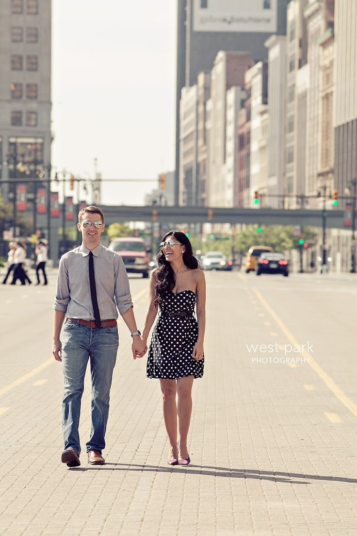 Romantic Detroit Engagement Session