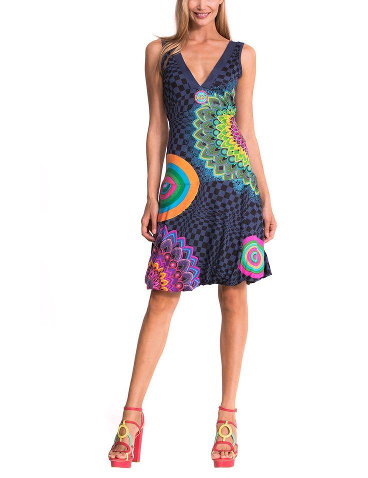 Desigual Long Bay - Robe - Boule - Imprimé - Sans manche - Femme: Amazon.fr: Vêtements et accessoires