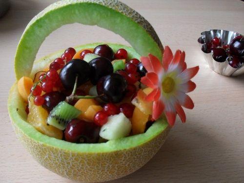 Cantaloup basket fruit salad recipe