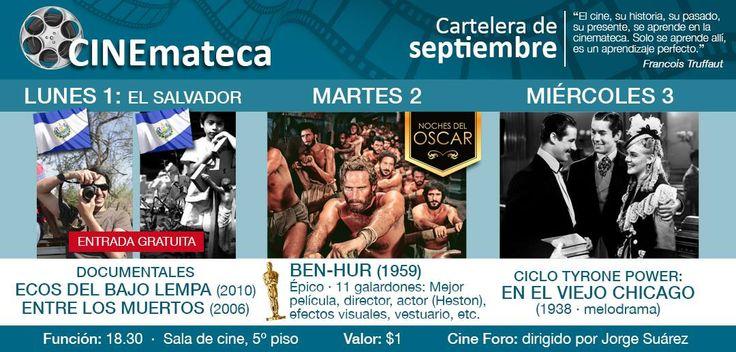 Una cartelera cultural de cinemateca desde este lunes en la Casa de la Cultura –Núcleo del Guayas- ubicado en el centro de la ciudad de Guayaquil (Ecuador), para que aquellos que les gusten estas películas acudan. Compartimos para mayor información.