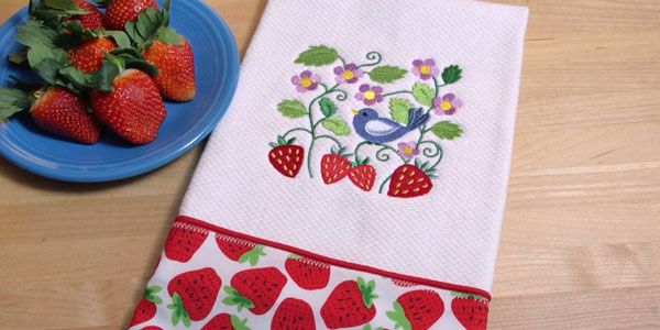 Captivating Free Project Instructions To Embroider A Letu0027s Dish Kitchen Towel.