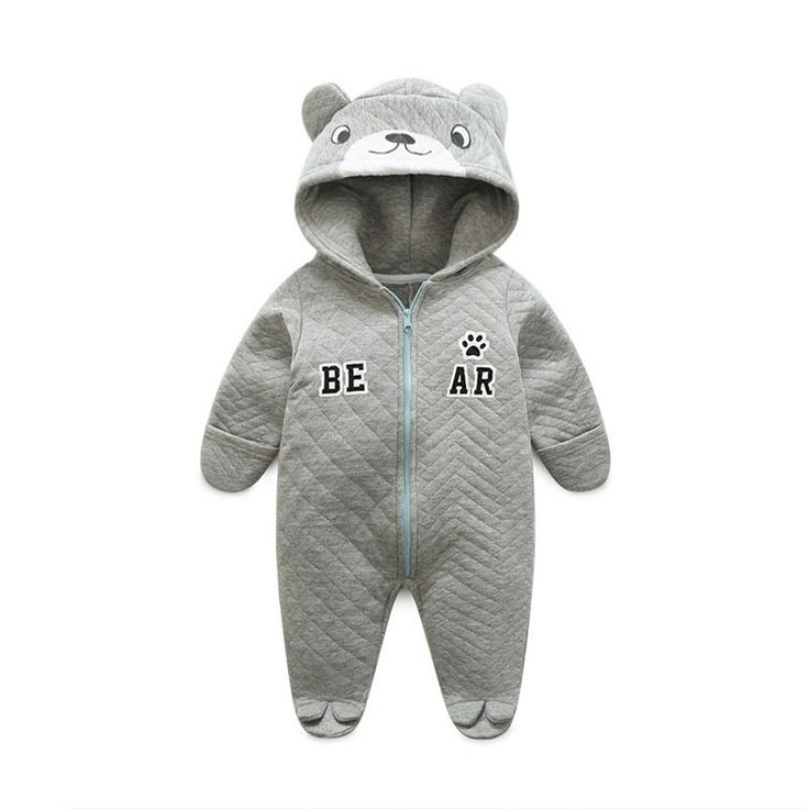 Victory! Check out my new Cute Light Grey Bear Hooded Fleece-lined Jumpsuit for Babies, snagged at a crazy discounted price with the PatPat app.