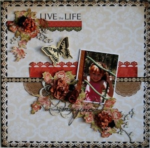 KaiserCraft Miss Match 'Live the life' layout by Hetty Hall