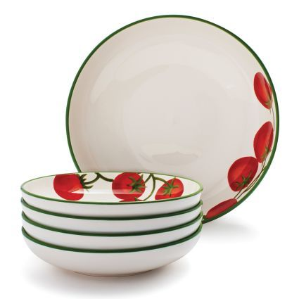 Tomato 5-Piece Pasta Bowl Set, available at #surlatable