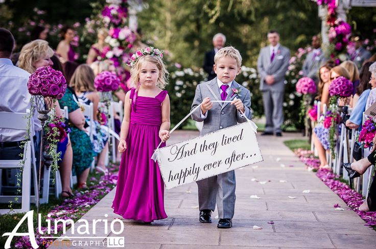 """""""And they lived happily ever after"""" ring bearer sign"""