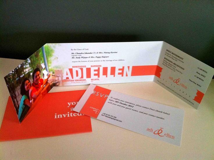 wedding invitation: invitation + rsvp + sleeve