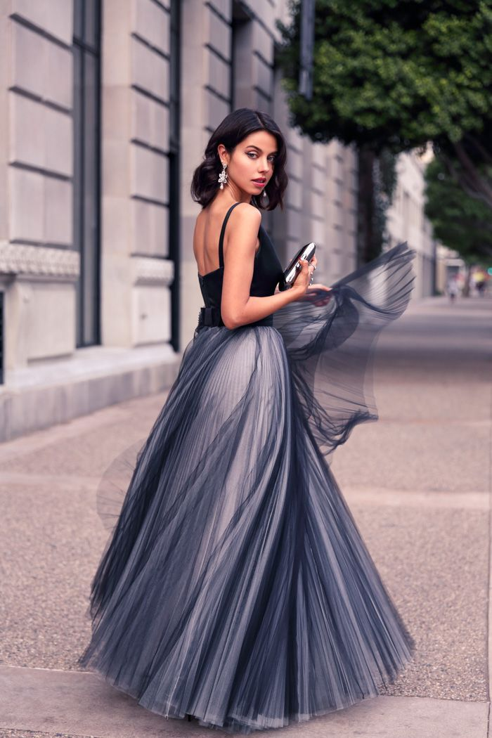 Maxi dress in winter tumblr transparents