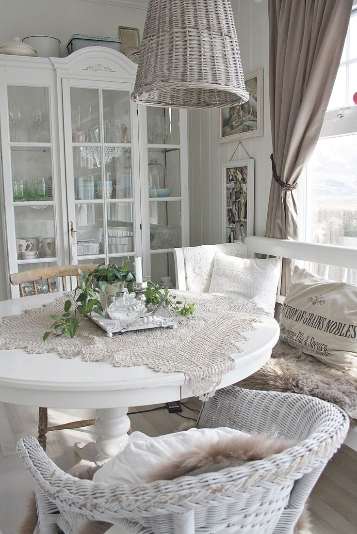 White vintage dining chairs - Find This Pin And More On Shabby Chic Dining