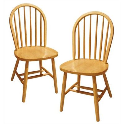 August Grove Windsor Side Chair Finish: Natural