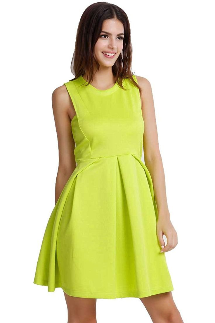 ACHICGIRL Women's Easy Sleeveless A-line Dress ** You can get more details  here