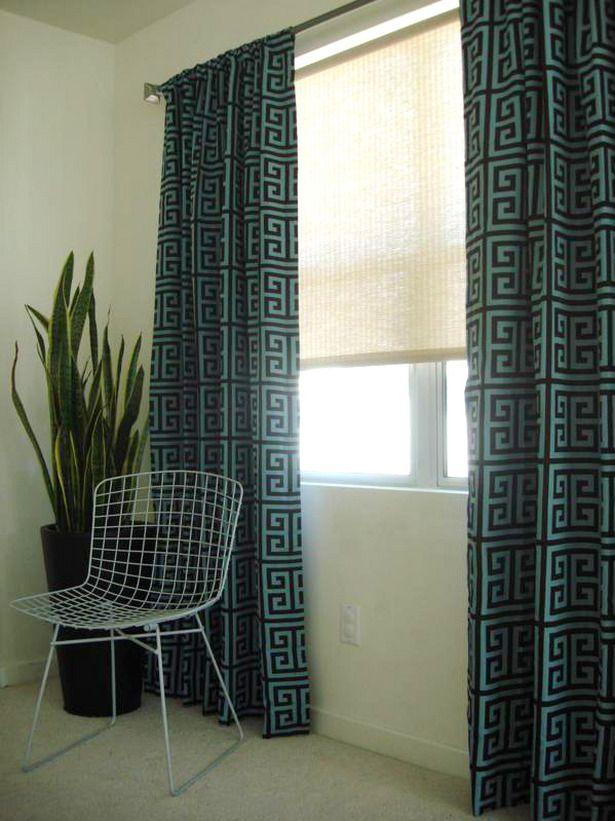 Window Treatment Ideas For Arched Windows: Blue And Black Window Treatment  Ideas For Arched Windows. Bedroom ...